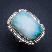 Natural Caribbean Larimar Handmade Unique 925 Sterling Silver Ring 5.5 B1797