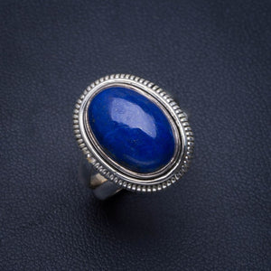 Natural Lapis Lazuli Handmade Unique 925 Sterling Silver Ring 5.75 B1991