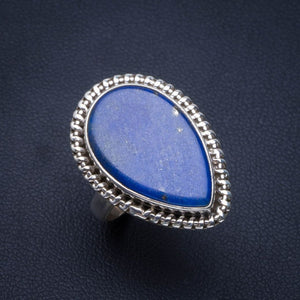 Natural Lapis Lazuli Handmade Unique 925 Sterling Silver Ring 6.75 B1997