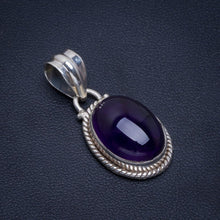 "Natural Amethyst Handmade Unique 925 Sterling Silver Pendant 1.25"" B4190"