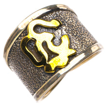 StarGems Natural Three Tones 18K Gold Plated Handmade 925 Sterling Silver Ring 7.5 D4468