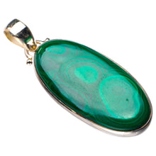 "StarGems Natural Malachite Handmade 925 Sterling Silver Pendant 1.75"" D6456"