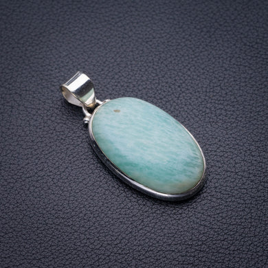 StarGems Natural Amazonite Handmade 925 Sterling Silver Pendant 1.75
