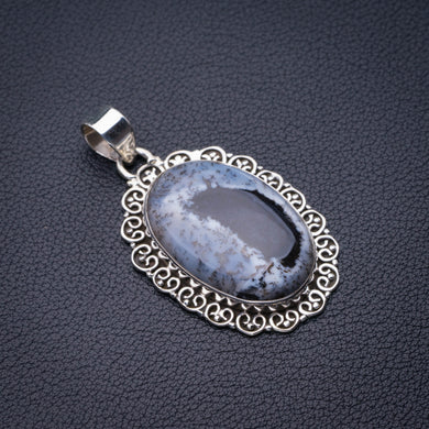 StarGems Natural Dendritic Opal Handmade 925 Sterling Silver Pendant 2