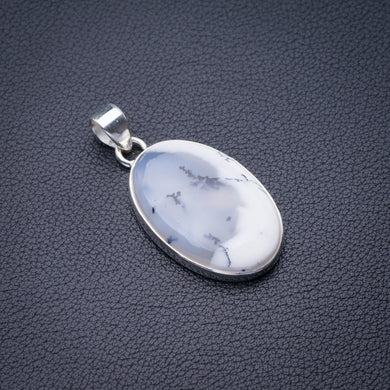 StarGems Natural Dendritic Opal Handmade 925 Sterling Silver Pendant 1.75