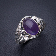 StarGems Natural Amethyst Handmade 925 Sterling Silver Ring 9.25 D8078