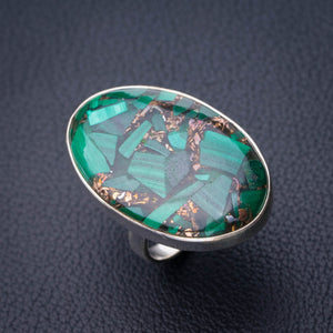 StarGems Natural Copper Chalcedony Handmade 925 Sterling Silver Ring 6 D8960
