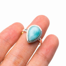 StarGems Natural Caribbean Larimar Handmade 925 Sterling Silver Ring 5.5 D5262