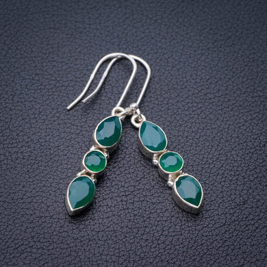 StarGems Natural Chrysoprase Handmade 925 Sterling Silver Earrings 1.75