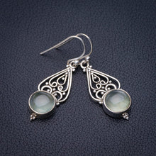 "StarGems Natural Prehnite Handmade 925 Sterling Silver Earrings 1.5"" E2066"
