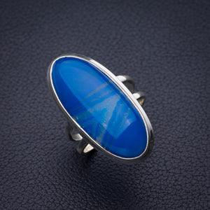 StarGems Natural Botswana Agate Handmade 925 Sterling Silver Ring 8.25 E2120