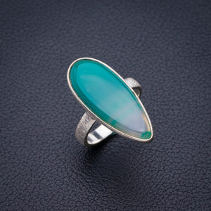 StarGems Natural Botswana Agate Handmade 925 Sterling Silver Ring 7 E2127