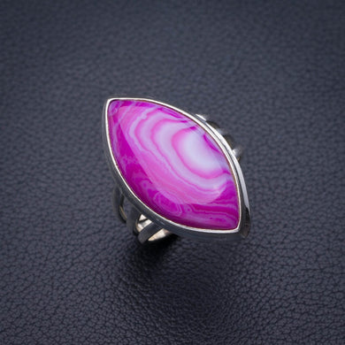 StarGems Natural Botswana Agate Handmade 925 Sterling Silver Ring 8.75 E2130