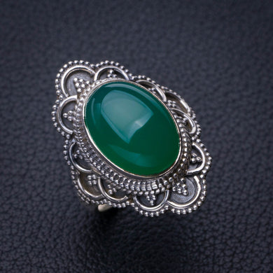 StarGems Natural Chrysoprase Handmade 925 Sterling Silver Ring 6 E2757