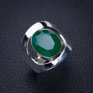 StarGems Natural Chrysoprase Handmade 925 Sterling Silver Ring 6.25 E2767