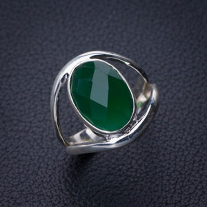 StarGems Natural Chrysoprase Handmade 925 Sterling Silver Ring 7.5 E2770
