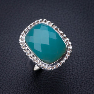 StarGems Natural Chrysoprase Handmade 925 Sterling Silver Ring 6.25 E2776