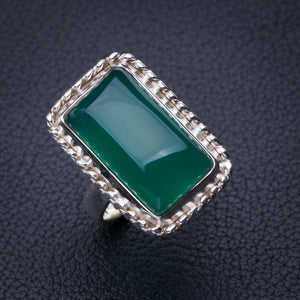StarGems Natural Chrysoprase Handmade 925 Sterling Silver Ring 5.75 E2777