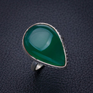 StarGems Natural Chrysoprase Handmade 925 Sterling Silver Ring 5.75 E2783