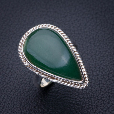 StarGems Natural Chrysoprase Handmade 925 Sterling Silver Ring 6.75 E2784