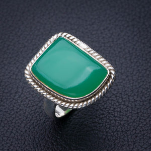 StarGems Natural Chrysoprase Handmade 925 Sterling Silver Ring 6.25 E2786