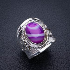 StarGems Natural Botswana Agate Handmade 925 Sterling Silver Ring 7.25 E3137