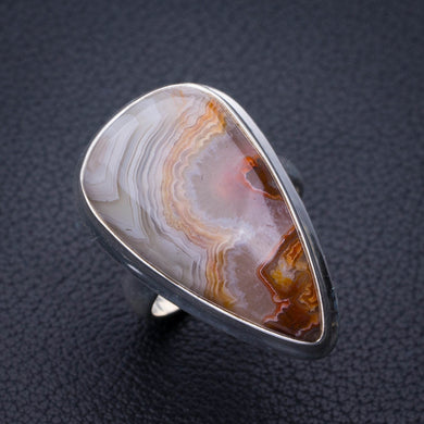 StarGems Natural Crazy Lace Agate Handmade 925 Sterling Silver Ring 7.25 E3139