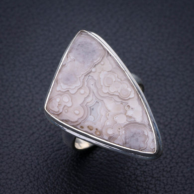 StarGems Natural Crazy Lace Agate Handmade 925 Sterling Silver Ring 7.25 E3142
