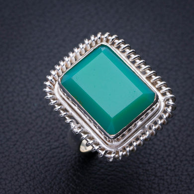 StarGems Natural Chrysoprase Handmade 925 Sterling Silver Ring 9 E3148