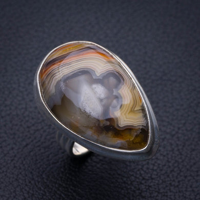 StarGems Natural Crazy Lace Agate Handmade 925 Sterling Silver Ring 6.5 E3157