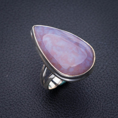 StarGems Natural Cuprite Blood Stone Handmade 925 Sterling Silver Ring 7 E3471