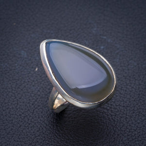 StarGems Natural Agate Handmade 925 Sterling Silver Ring 8.25 E3495
