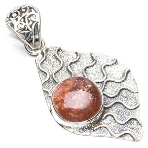 "Natural Calcite Punk Style 925 Sterling Silver Pendant 2"" Q1018"