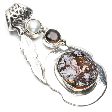 Natural Drusy Druzy,Amethyst and River Pearl Punk Style 925 Sterling Silver Pendant 2