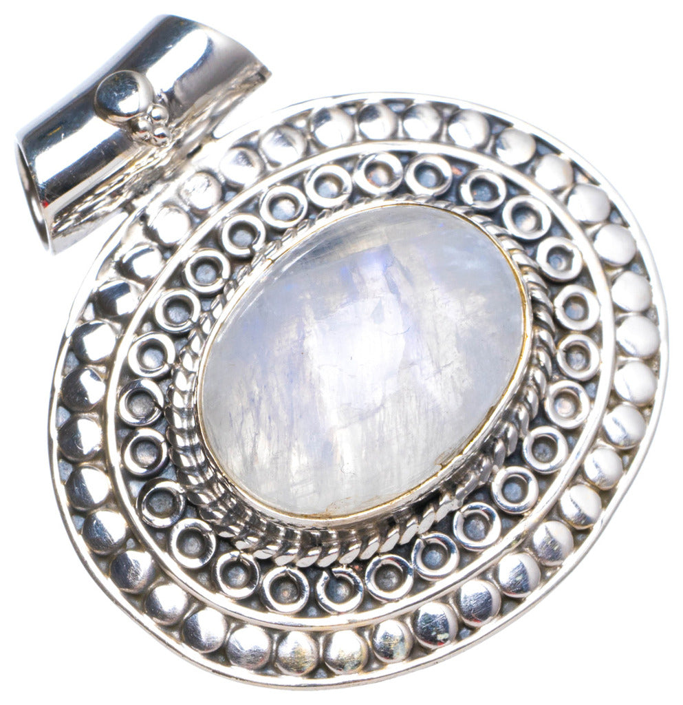 Natural Moonstone Handmade Unique 925 Sterling Silver Pendant 1.25