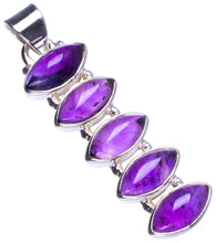 "Natural Amethyst Handmade Unique 925 Sterling Silver Pendant 2"" X0266"