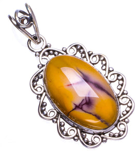 "Natural Royal Imperial Jasper Handmade Unique 925 Sterling Silver Pendant 1.5"" X0362"