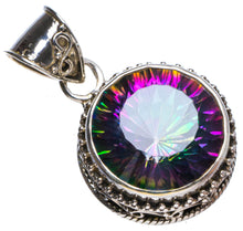 "Natural Mystical Topaz Antique Design Handmade Unique 925 Sterling Silver Pendant 1.25"" X0879"