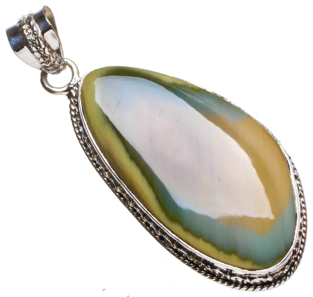 Natural Imperial Jasper Handmade Unique 925 Sterling Silver Pendant 2