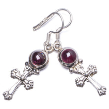 "Natural Amethyst Handmade Unique 925 Sterling Silver Earrings 1.5"" Y1613"