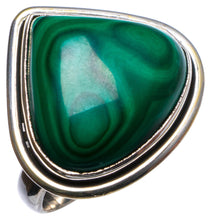 Natural Malachite Handmade Unique 925 Sterling Silver Ring, US size 8 X1713