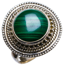 Natural Malachite Handmade Unique 925 Sterling Silver Ring, US size 7 X1780