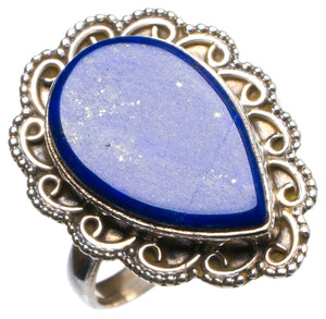 Natural Lapis Lazuli Handmade Unique 925 Sterling Silver Ring, US size 9 X1835