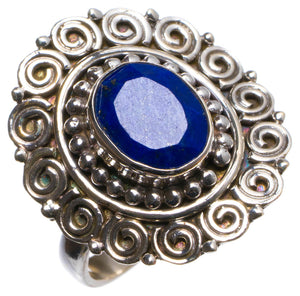 Natural Sapphire Handmade Unique 925 Sterling Silver Ring, US size 7.25 X1841
