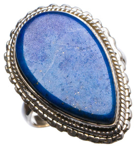 Natural Lapis Lazuli Handmade Unique 925 Sterling Silver Ring, US size 8 X1878