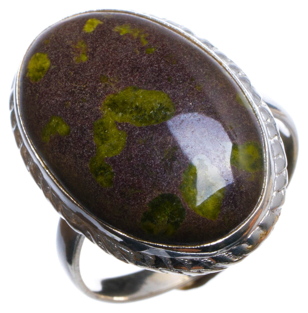 Natural Ocean Jasper Handmade Unique 925 Sterling Silver Ring, US size 6.75 X1937