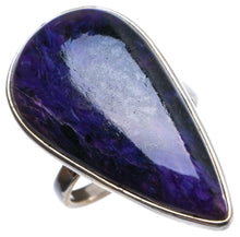 Natural Charoite Handmade Unique 925 Sterling Silver Ring, US size 6.5 X2204