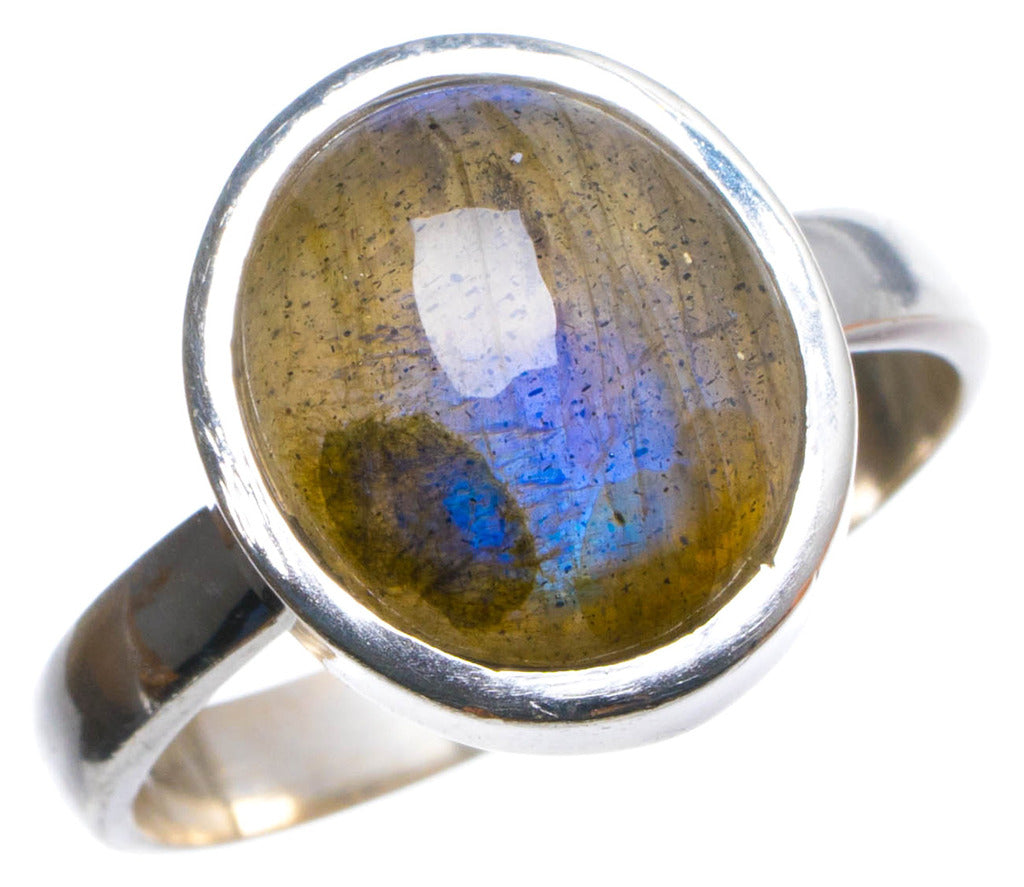 Natural Labradorite Handmade Unique 925 Sterling Silver Ring, US size 7.5 X2497