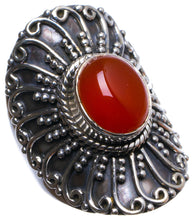 Natural Carnelian Handmade Unique 925 Sterling Silver Ring, US size 8 X2501