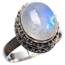 Natural Rainbow Moonstone Handmade Unique 925 Sterling Silver Ring, US size 7.5 X2533